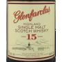 Glenfarclas 15 ans étiquette