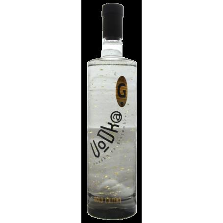 Vodka Gingembre Gold Edition avec paillette d'or Miclo