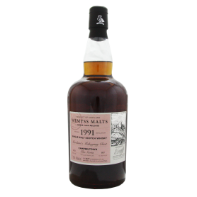 Merchant's Mahogany Chest Glen Scotia 1991 22 ans Wemyss Malts Single cask Whisky