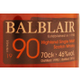 Balblair 1990 mis en bouteille 2016 - single malt scotch whisky