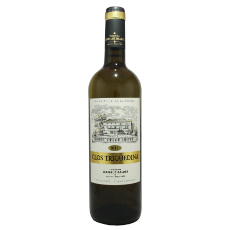 Clos Triguedina blanc 2015 Viognier-chardonnay Comte de Tolosan