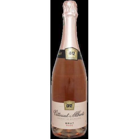Crémant de Bourgogne Brut rosé Vitteaut Alberti