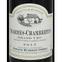 Domaine Humbert Frères Charmes Chambertin grand vin de bourgogne 2015