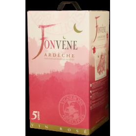 Vin rosé en bib Fonvène Ardèche