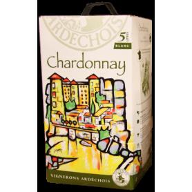 Ardèche Chardonnay bib cubi Les Vignerons ardéchois