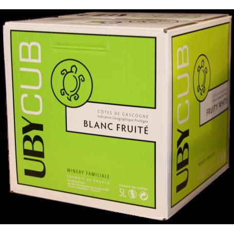 Côtes de Gascogne Uby Cub Blanc vin blanc en cubi