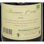 Vin de Bourgogne en biodynamie 2016 Beaune 1er Cru Domaine de la Vougeraie