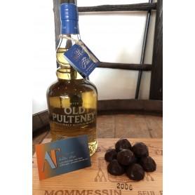 Old Pulteney Flotillla 2008 et Chocolats noirs caramel beurre salé