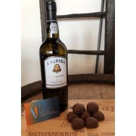 Porto Blanc Lagrima doux domaine Ramos Pinto et Chocolats au lait pralinés