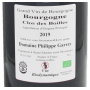 Vin bio Bourgogne rouge 2019
