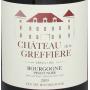 Château de la Greffière Bourgogne rouge pas cher 2019