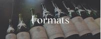 Format des vins : demi-bouteille, bouteille, magnum, bib,...