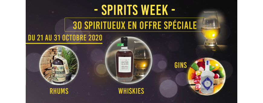 Spirits week offres spéciales sur une trentaine de spiritueux